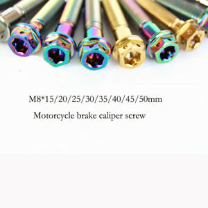 M10*15/20/25/30/35/50mm 4pcs Titanium Flange bolts screws for Motorcycle Bicycle