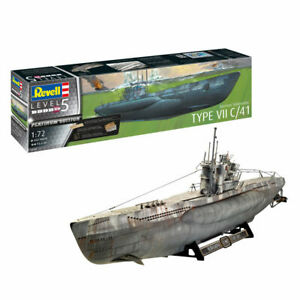 U-Boot German Submarine Type VII C/41 1:72 - Revell 05163 WWII Modell Uboot NEU