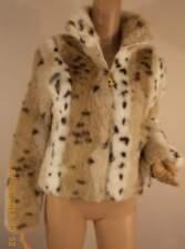totally chic! BABY PHAT faux leopard fur bolero jacket coat zip front sleeves -M