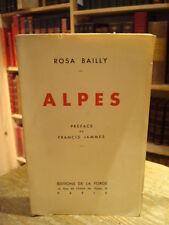 Rosa Bailly  ALPES 1935 E.O. Envoi