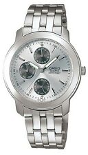 Casio MTP1192A-7A Men's Metal Band Multi Function Analog Silver Dial Watch
