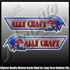 ALLYCRAFT - 430mm X 125mm X 2 - DECAL PAIR - BOAT DECALS