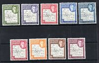 Falkland Dependencies 1948 Thin Map MH set G9-G16 (+11a) WS14222