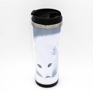 New Arctic Fox Mug Creative Travel Coffee Water Tea Cup for Cars Adults 400ML