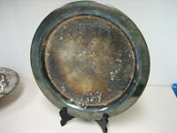 """Wm. Rogers & Son 12 1/2"""" Round Silver Recessed Platter Tray 20 oz."""