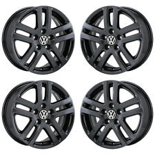 "16"" VOLKSWAGEN JETTA BLACK CHROME WHEELS RIMS FACTORY OEM SET 4 69812 EXCHANGE"