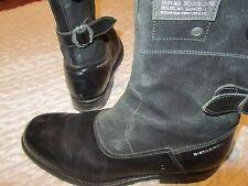 boots g star raw 43/9  cuir et daim noire rock bike bottes
