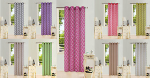1PC 2 TONE PRINTED GROMMET VOILE SHEER PANEL WINDOW CURTAIN TREATMENT DRAPE #S38