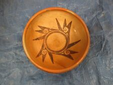 "Hopi Pottery: Hopi Bowl, by  Corn Woman  used 10X3"" weathered, cracked repaired"