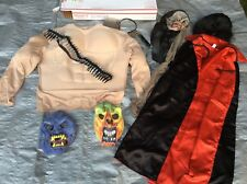 LOT Used Pretend Play Muscles Masks Cape Halloween Costumes Mix Sizes Boys