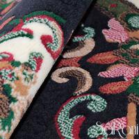 Tapis Moderne Floral Couchage Court Rond Bleu Salon Pièce Tapis Chevet