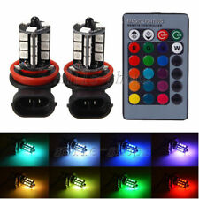 2pcs New RGB Wireless H8 H11 27-SMD LED Decoration Bulbs Fog DRL Running Lights