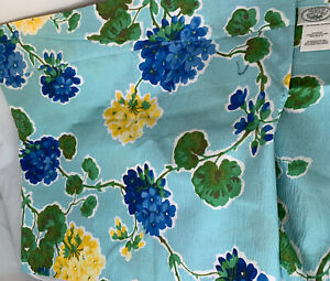 Laura Ashley Valance Straight Teal With Blue & Yellow Hydrangea Flowers 86 X 18