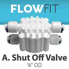 Automatic Shut Off Valve Quick Connect Fittings for Water Filters / RO Systems
