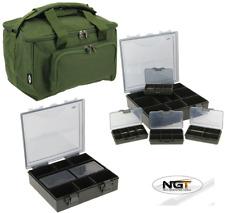 New NGT Quickfish Carp Fishing Green Carryall Holdall Bag + 4+1 Carp Tackle Box