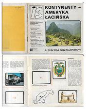POLAND  -  Collector's album; Continents - Latin America
