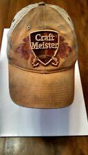 Trucker Hat/Baseball Cap Craft Meister Tan Hook&LoopBack Raised Embroidered Logo