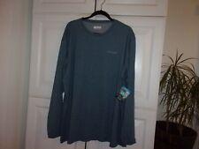 columbia mens shirt top grayish blue size 3x new nwt long sleeve sport fish $45