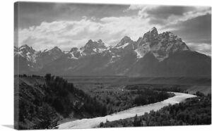 "Grand Teton - National Park - Wyoming Canvas Print Ansel Adams 26""x18"" (.75Deep)"