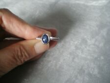 Blue Star Sapphire ring, size N/O, 2.04 carats, 2.14 grams of 925 Sterling Silve