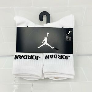 6-Pack Nike Air Jordan Jumpman Legend Youth Kids Crew Socks Shoe Size 3Y-5Y *NEW