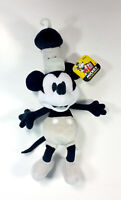 """Disney Store Exclusive 2000 Steamboat Willie 10"""" plush Mickey Mouse Black/White"""