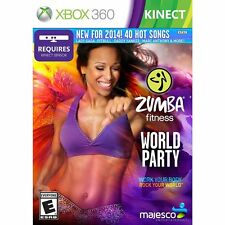 Zumba Fitness World Party for XBOX 360 System Brand New Factory Sealed !