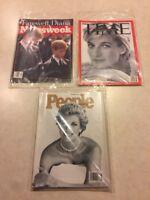 Lot Of 3 Magazines PRINCESS DIANA People, Time & Newsweek September 15, 1997