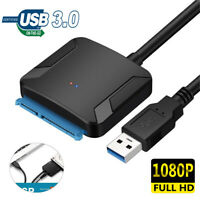 USB 3.0 to SATA 2.5Inch 3.5Inch Hard Disk Drive SSD Adapter Converter for PC