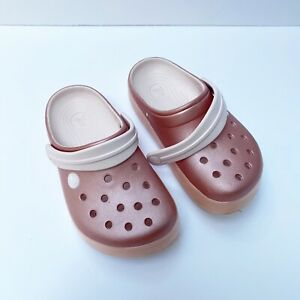 BNWT Older Girls Sz 4 Rivers Doghouse Brand Fairy Floss Pink Clog Beach Shoes