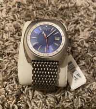 NEW Alpina Startimer Pilot Heritage Auto. Stainless Blue Dial Men's Watch