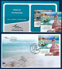 ISRAEL 2009 THE DEAD SEA STAMP MNH + FDC + POSTAL SERVICE BULLETIN