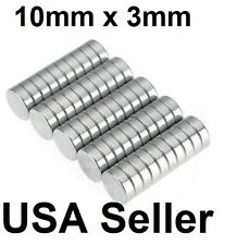 lot 100 50 10mm X 3mm Neodymium Disc Strong Rare Earth N48 Small Fridge Magnets