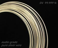 1 mm AWG 18 Solid Core 1 Met / 3,3 ft Ultra Fine Pure SILVER Audio BARE WIRE,