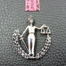 Betsey Johnson Charm Brooch Pin New Silver Enamel Exquisite Justice Goddess
