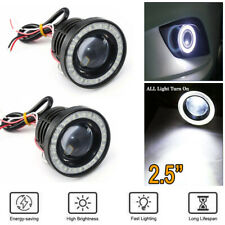 2.5 Inch Car COB LED Fog Light Projector White Angel Eyes Halo Ring DRL Lamp