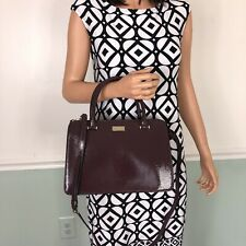 Kate Spade Lise Bixby Place Mahogany Leather Handbag Crossbody WKRU4056