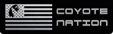 2018+ Mustang Aluminum Radiator Plate - [18FM_RP_S2] COYOTE NATION BLACK