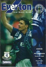EVERTON V PSV EINDHOVEN 1995/96 PRE SEASON FRIENDLY MATCHDAY PROGRAMME