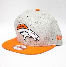 New Era Denver Broncos Heather Grey Speck Snapback Hat