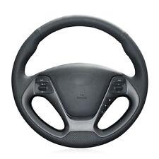 Black Artificial Leather Steering Wheel Cover for Kia K3 2013 K2 Rio 2015 2016 C
