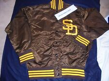 SAN DIEGO PADRES AUTHENTIC 1970'S WILSON GAME ISSUE SATIN JACKET Size 38