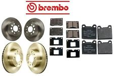 For Volvo 240 90-93 Premium Complete Front & Rear Disc Brake Rotors KIT w/ Pads