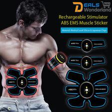 Rechargeable ABS Stimulator Training Gear EMS Abdomen Muscle Fitness Belt