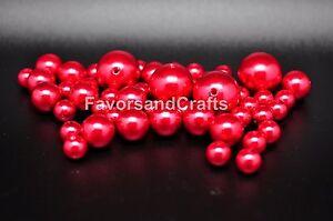 76 Pearl Vase Fillers Centerpiece Balls Fake Gems Marbles Beads Craft Wedding