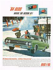 Vintage 1964 Magazine Ad Oldsmobile F-85 Wagon Performance And Plenty Space