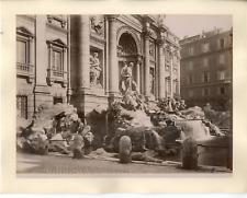Italie, Roma, Fontana di Trevi dei Bernini Vintage albumen print.  Tirage albu