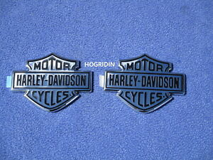 HARLEY FUEL GAS TANK MEDALLIONS EMBLEMS NAME PLATES TOURING SOFTAIL DYNA FLSTC