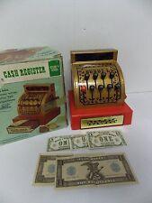 Vtg Buddy L Sturdy Steel Cash Register w/ Money in Original Box No 2505 USA Made