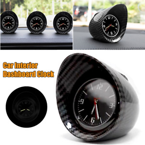 1×Carbon Fiber Look Electronic Car Dashboard Clock Backlight Shading Decoration